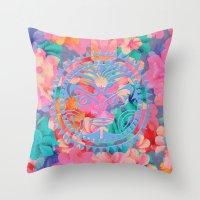 hawaii Throw Pillows featuring Hawaii by Marta Olga Klara