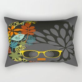 Afro Diva : Sophisticated Lady Gray Rectangular Pillow