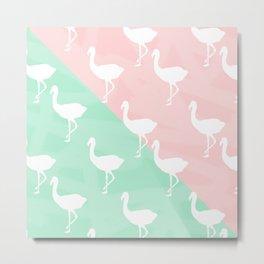 Flamingo's Palm Springs Style Metal Print