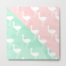 Flamingo's Palm Springs Style Metal Print