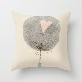 how love grows Throw Pillow