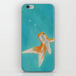 Goldfish in the ocean iPhone Skin
