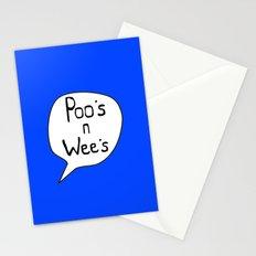Poo's n Wee's Blue Stationery Cards