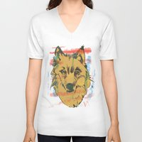 howl V-neck T-shirts featuring HOWL by Galvanise The Dog