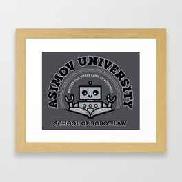 I Majored in Robot Law Framed Art Print