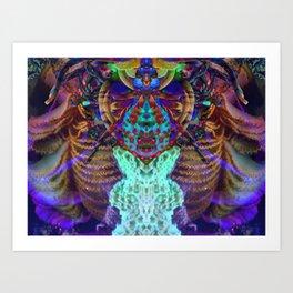 Psychedelic Spider Art Print
