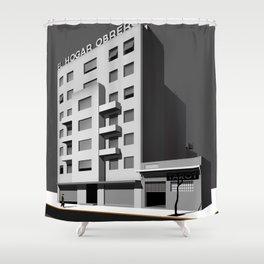 El Hogar Obrero, Workers Building Urban Painting Shower Curtain