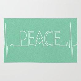 Peace Pulse Minimalist Christmas Rug
