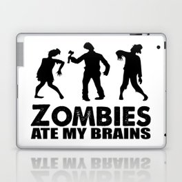 zombies ate my brains Laptop & iPad Skin