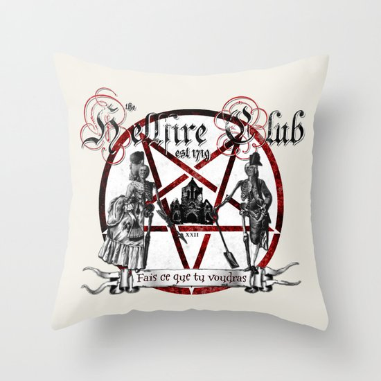 the Hellfire Club Throw Pillow