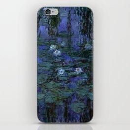 Blue Water Lilies Monet 1916- 1919 iPhone Skin