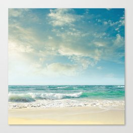 beach love tropical island paradise Canvas Print