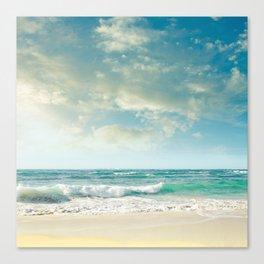 beach love tropical island paradise Canvas Print