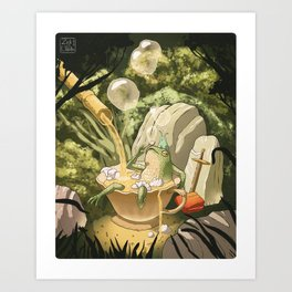 Bubble Tea Bath Art Print