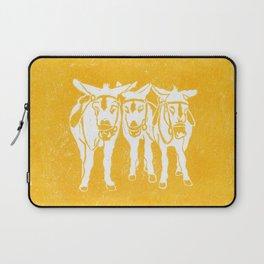 Seaside Donkeys in Yellow Laptop Sleeve
