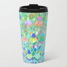 Art Deco Watercolor Patchwork Pattern 1 Travel Mug