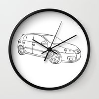golf Wall Clocks featuring Golf  by Barbo's Art