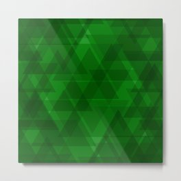 Bright green triangles in intersection and overlay. Metal Print