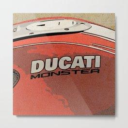 Ducati Monster tank 02 Metal Print