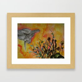 Avocado Lizard Framed Art Print