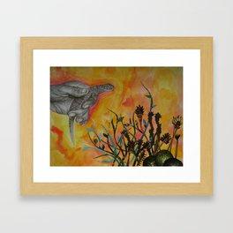 Avocado Lizard Framed Art Print