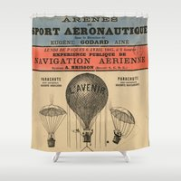 sport Shower Curtains featuring Sport Aeronaute by DAChiemsee
