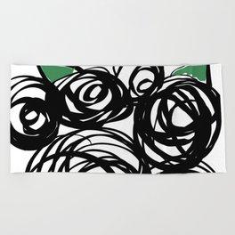 Black Roses Beach Towel