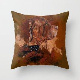 Dog drawing Throw Pillow