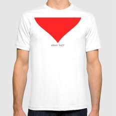 find you half (part 2 of 2) White Mens Fitted Tee MEDIUM