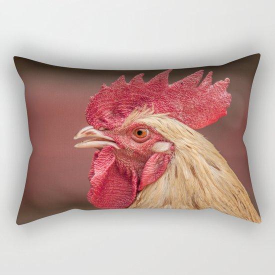 red and white hen coq Rectangular Pillow