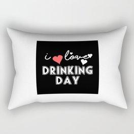 I LOVE DAY DRINKING Rectangular Pillow
