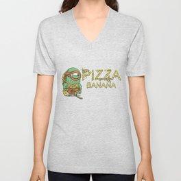 Pizza in Banana Unisex V-Neck