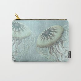 Jellyfish Underwater Aqua Turquoise Art Carry-All Pouch