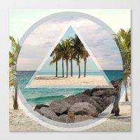 miami Canvas Prints featuring Miami by Wesley Bird