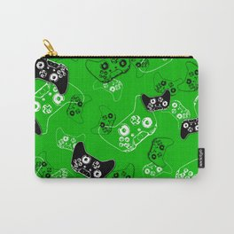 Video Game Green Carry-All Pouch