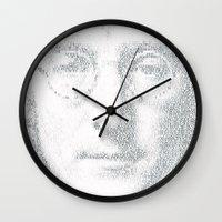 imagine Wall Clocks featuring Imagine by Robotic Ewe