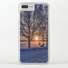 Sunset in Rovaniemi. Clear iPhone Case