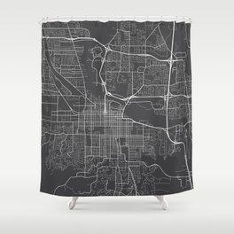 Eugene Map, USA - Gray Shower Curtain