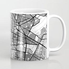 Mexico City Map White Coffee Mug