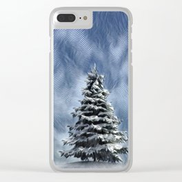 Lone Evergreen Clear iPhone Case