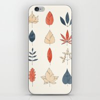 leaves iPhone & iPod Skins featuring Leaves by Tracie Andrews