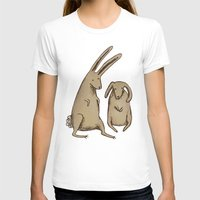 bunnies T-shirts featuring Two Bunnies by Sophie Corrigan