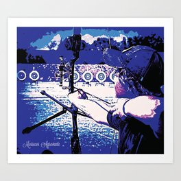 Young Archer and Targets Art Print