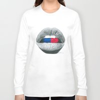 pills Long Sleeve T-shirts featuring Love Pills  by Giorgio Arcuri