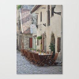 Al Fresco Tallinn Canvas Print
