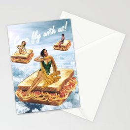 Sandwich Airlines - Come fly with us! Stationery Cards