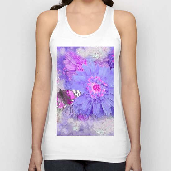 Daisy and Butterfly Unisex Tank Top