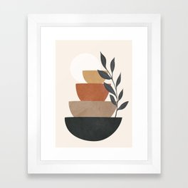 Branch and Balancing Elements Framed Art Print
