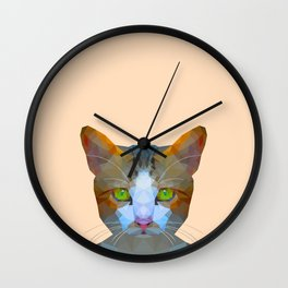 Cat new with background Wall Clock