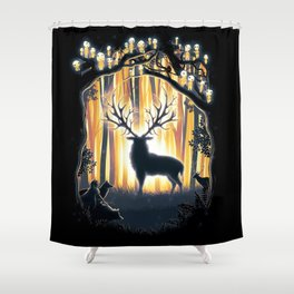 Master of the Forest Shower Curtain